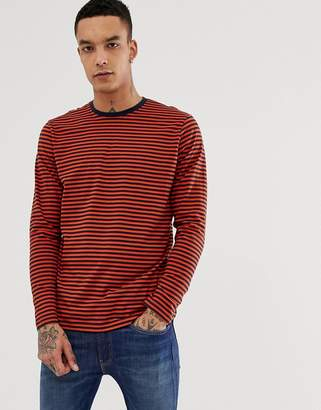 cc1cb79ced New Look long sleeve t-shirt in orange stripe