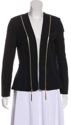 Rachel Zoe Collarless Long Sleeve Blazer