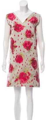 Marni Gathered Jacquard Dress