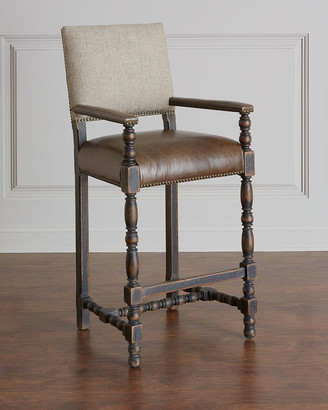 Hooker Furniture Casella Leather Bar Stool