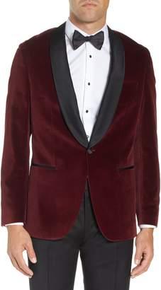 BOSS Hockley Slim Fit Velvet Cotton Dinner Jacket