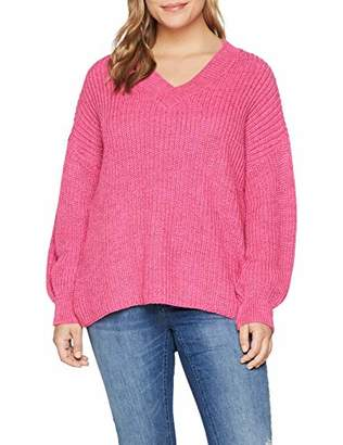 cd862eec51a7 LOST INK PLUS Women s V Neck Jumper with Blouson Sleeve  Cardigan