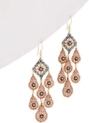 Miguel Ases 14K Gold Filled Crystal Drop Earrings