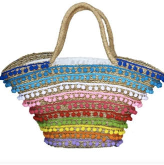 Mystique Pom-Pom Beach Bag