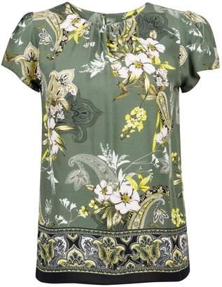 636bdc49c677fd Dorothy Perkins Womens Petite Khaki Paisley Print Top