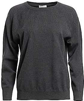 71d905dc47 Brunello Cucinelli Women s Diamond Embellished Cashmere Argyle Sweater