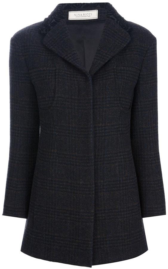 Nina Ricci tweed belted jacket