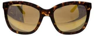 Blumarine Mirrored Tortoiseshell Sunglasses