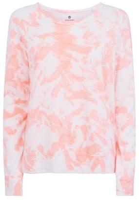 Sundry Tie Dye Crop Sweater