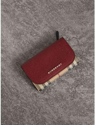 Burberry Leather and Haymarket Check Mini Wallet
