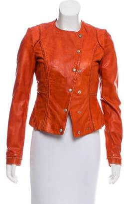 BOSS ORANGE Collection Distressed Leather Jacket w/ Tags