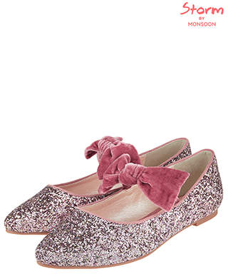 Monsoon STORM Glenda Glitter Almond Toe Shoes