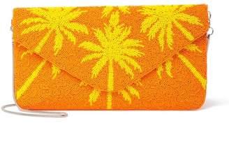 Ricki Designs Palm Beaded Clutch