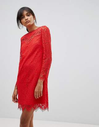 Oasis Broderie Lace Shift Dress