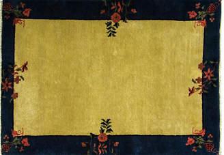 """One Kings Lane Vintage Chinese Art Deco Rug - 3'11"""" x 5'10"""" - Eli Peer Oriental Rugs"""