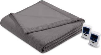 Simmons Knit Micro-Fleece King Heated Blanket Bedding