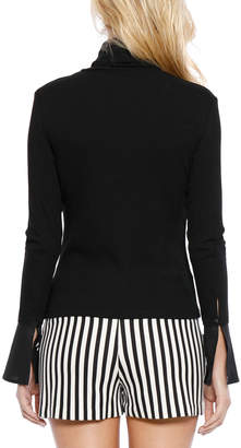 Grayson Walter Baker Flare-Cuff Turtleneck Top