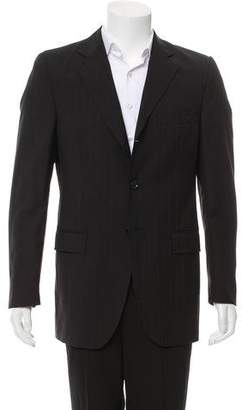 Dolce & Gabbana Striped Virgin Wool Blazer