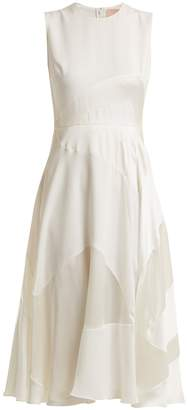Roksanda Keanu paneled silk-satin dress
