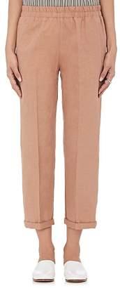 Giada Forte Women's Linen-Cotton Elastic-Waist Pants