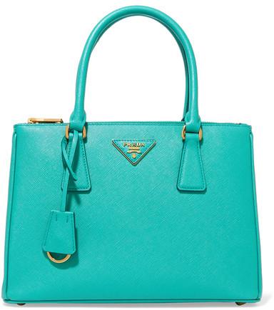 pradaPrada - Galleria Medium Textured-leather Tote - Turquoise