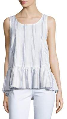 Beach Lunch Lounge Striped Peplum Tank Top $48 thestylecure.com