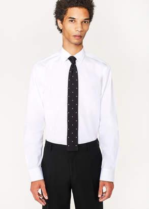 Paul Smith Men's Tailored-Fit White Cotton 'Artist Stripe' Cuff Shirt
