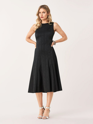 Diane von Furstenberg Clemintine Stretch Moire A-Line Dress