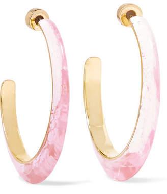Dinosaur Designs Resin Hoop Earrings - Pink