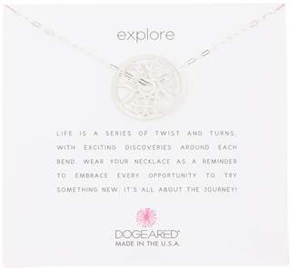 Dogeared Explore Wheel of Fortune Pendant Necklace