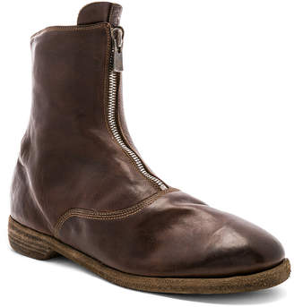Guidi Full Grain Horse Leather Front Zip Boots in Brown | FWRD