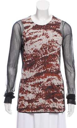 Alexander Wang Mesh-Paneled Jacquard Sweater