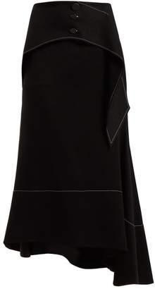 Ellery Yale Crepe Midi Skirt - Womens - Black