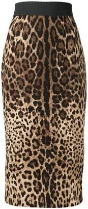 Dolce & Gabbana leopard print pencil skirt