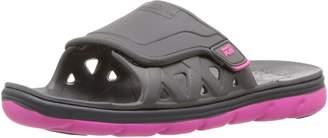Stride Rite Kids M2P Phibian Slide Shoes, Grey/Pink