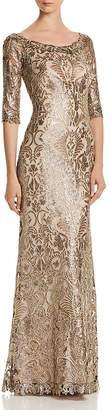 Tadashi Shoji Sequin-Embellished Gown