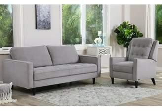 Modern Rustic Interiors Idris Reclining 2 Piece Leather Living Room Set Modern Rustic Interiors