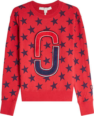 Marc Jacobs Printed Cotton Sweatshirt with Appliqués