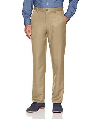 Amazon Essentials Men's Expandable Waist Classic-Fit Flat-Front Dress Pants