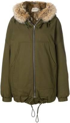 Holland & Holland fur hooded jacket