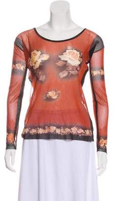 Jean Paul Gaultier Printed Mesh Top