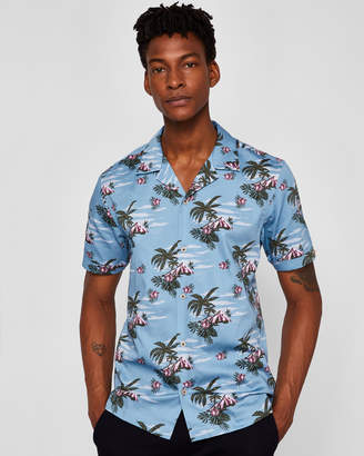 Ted Baker BLISS Tropical pattern cotton shirt