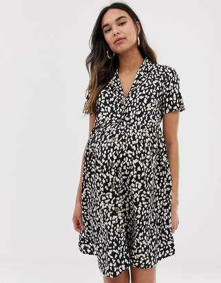 New Look Maternity smock dress in animal print