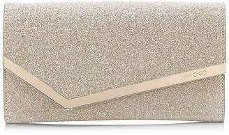 Jimmy Choo EMMIE Platinum Ice Dusty Glitter Clutch Bag