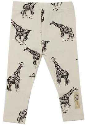 L'ovedbaby Leggings 100% Organic Cotton Giraffe Beige 9 to 12 Months