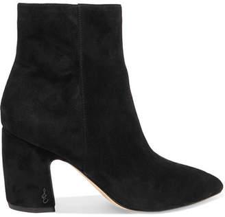 Sam Edelman Hilty Suede Ankle Boots - Black