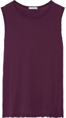 James Perse - Cotton-jersey Tank - Merlot $85 thestylecure.com