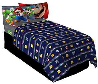 Nintendo Super Mario Trifecta Fun Twin Sheet Set