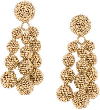 beaded cascade earrings