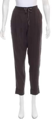 Fabiana Filippi Silk High-Rise Pants